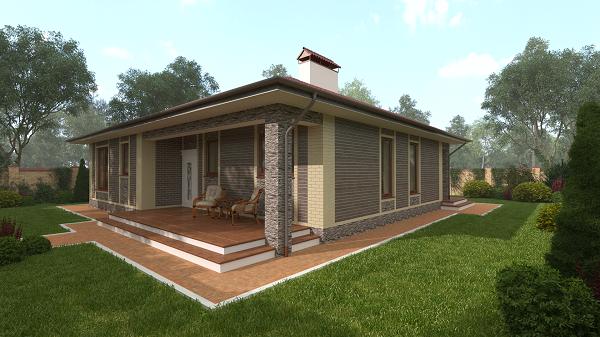 Дом с Террасами | КП «Альпийская Деревня»